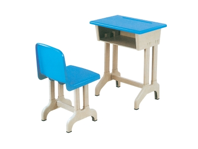 Single desk and chair for students (lifting type)
