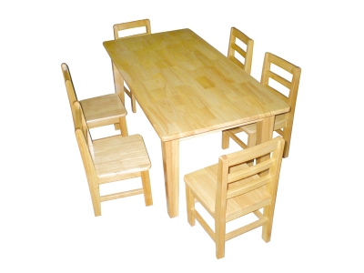 White oak desks and chairs
