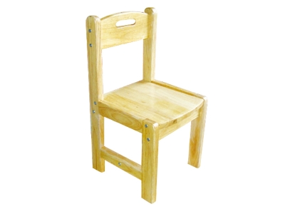 Solid oak square chair
