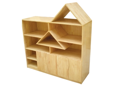 Solid wood toy cabinet