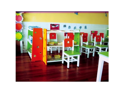 Color toy cabinet