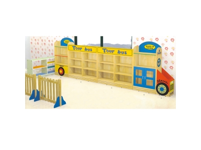 Bus toy cabinet