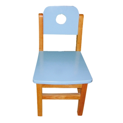 Color solid wood small square chair